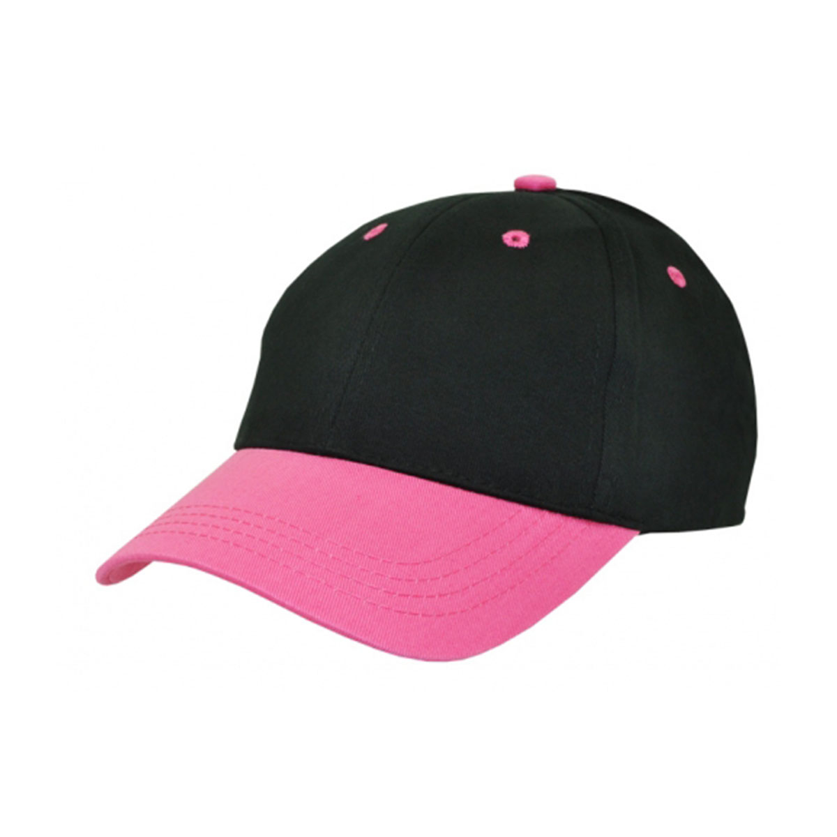 Kids Cap-Black / Hot Pink