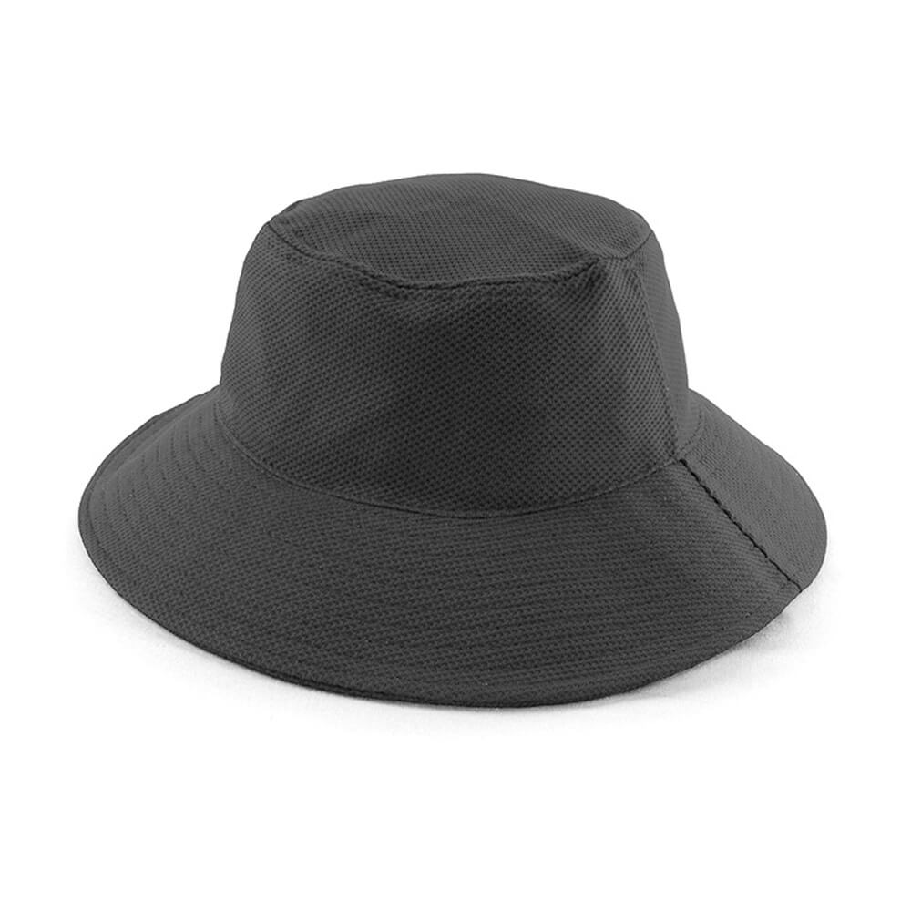 PQ Mesh Bucket Hat-Black