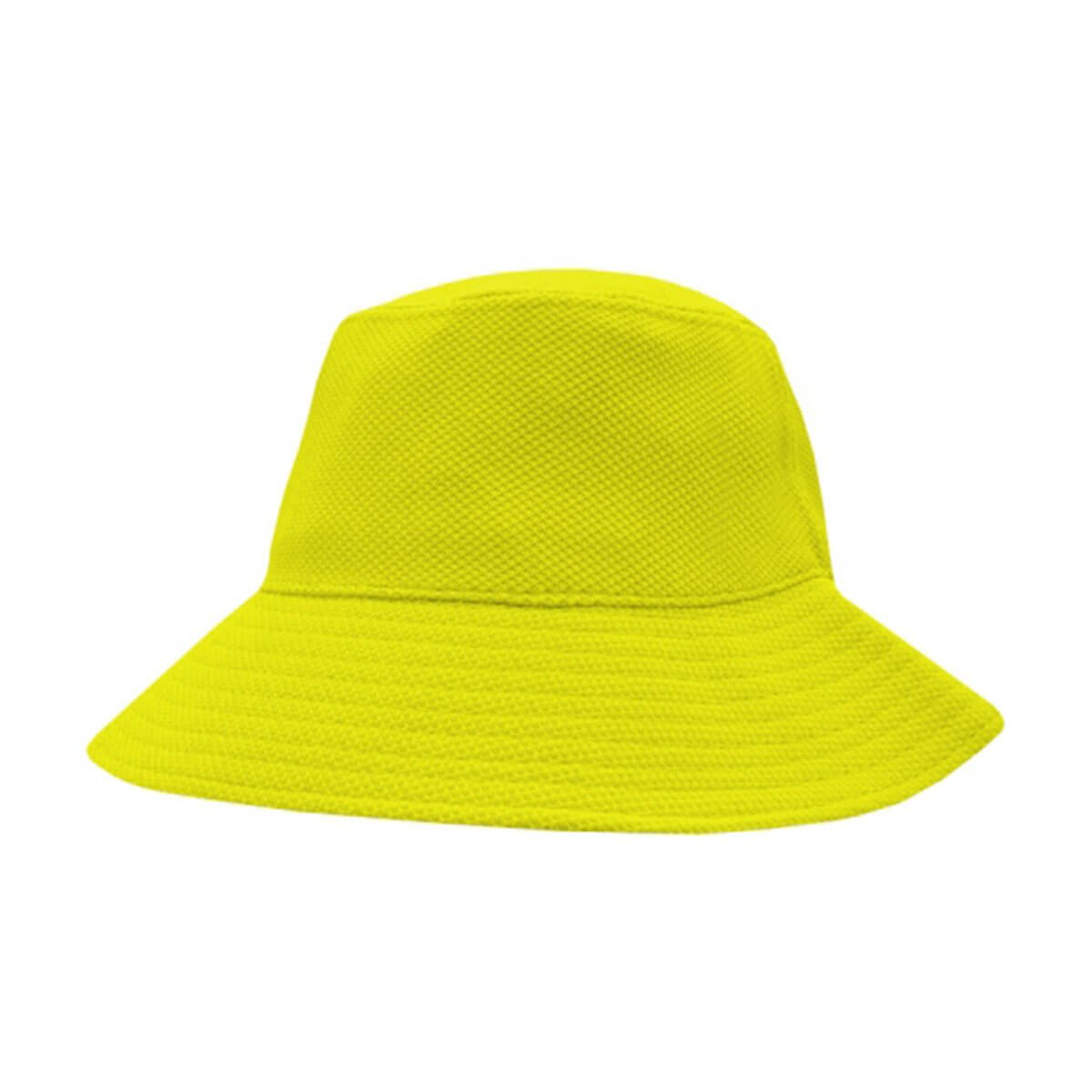 PQ Mesh Bucket Hat-Fluro Yellow