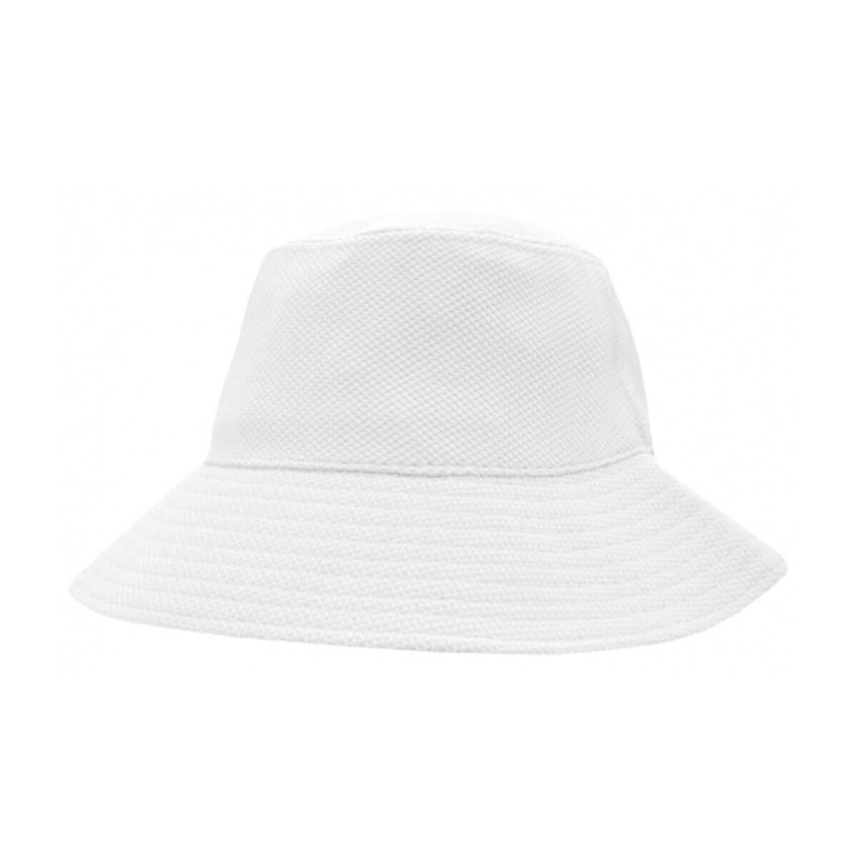 PQ Mesh Bucket Hat-White