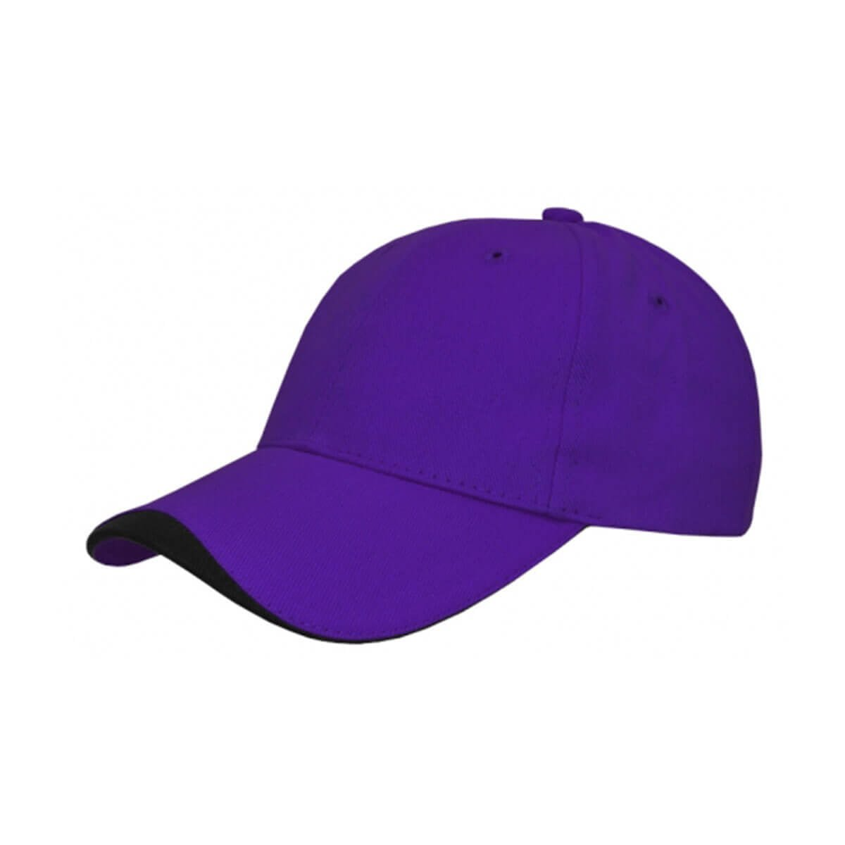 Kids Cap-Purple / Black