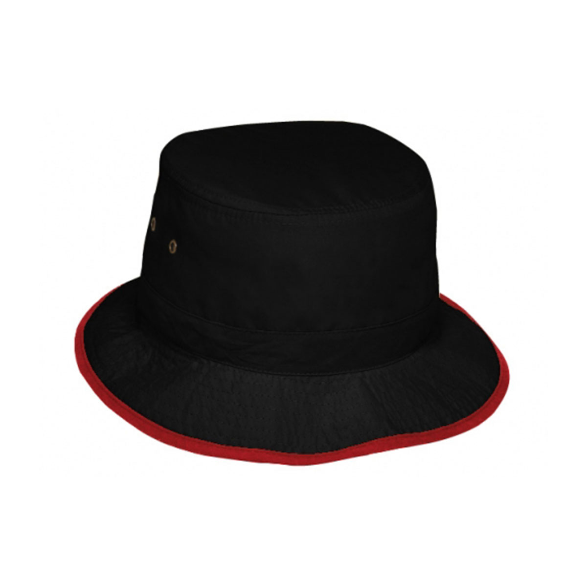 Microfibre Bucket Hat-Black / Red
