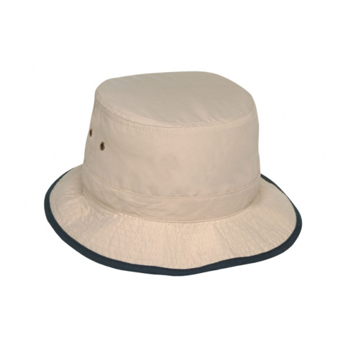 Microfibre Bucket Hat-Natural / Navy