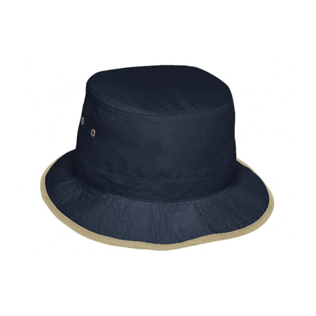 Microfibre Bucket Hat-Navy / Natural