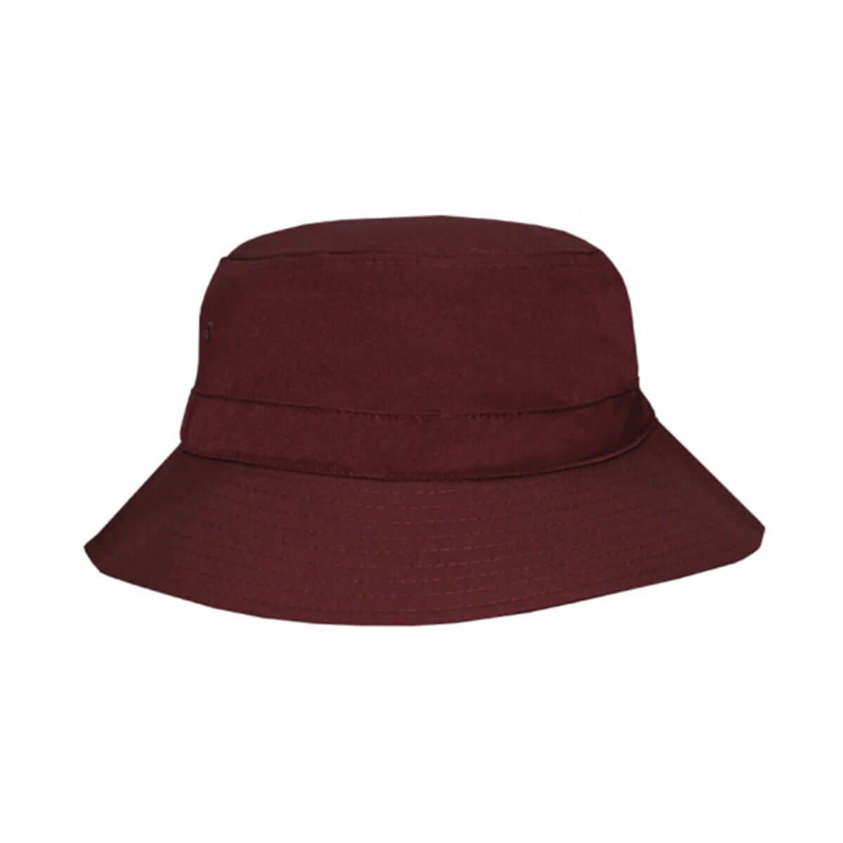 Polyviscose Bucket Hat-Maroon