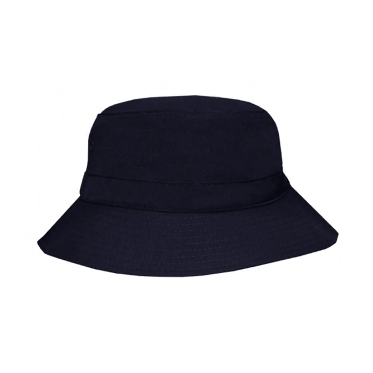 Polyviscose Bucket Hat-Navy