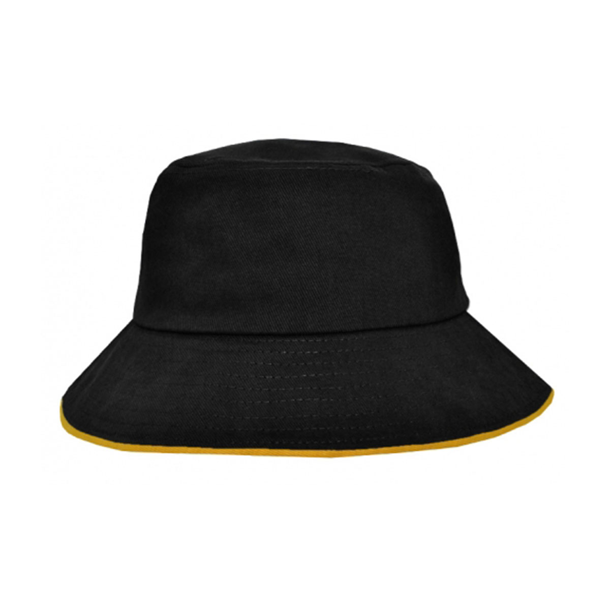 Bucket Hat Sandwich Design-Black / Gold