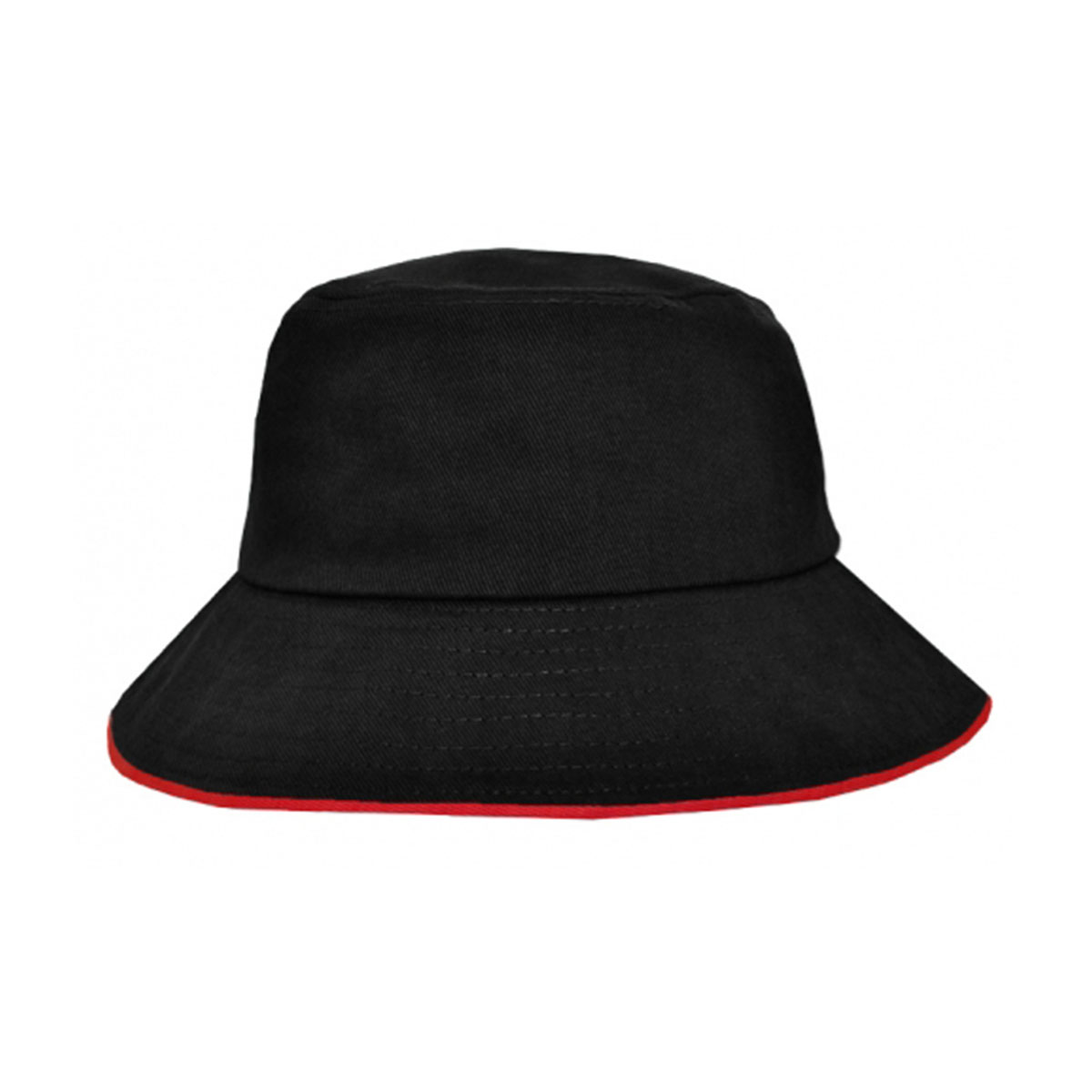 Bucket Hat Sandwich Design-Black / Red
