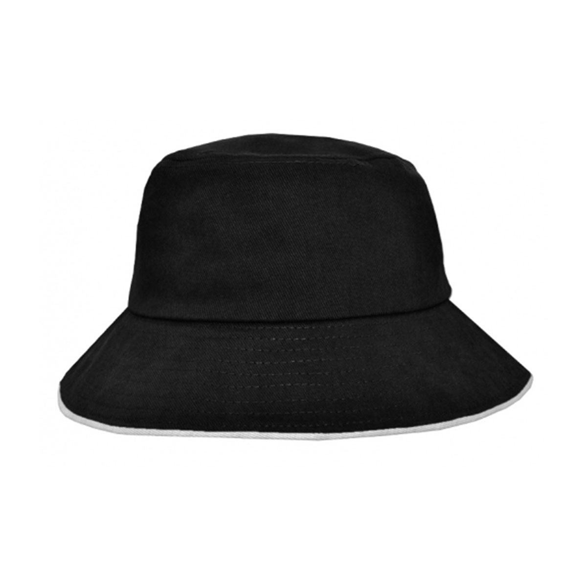 Bucket Hat Sandwich Design-Black / White