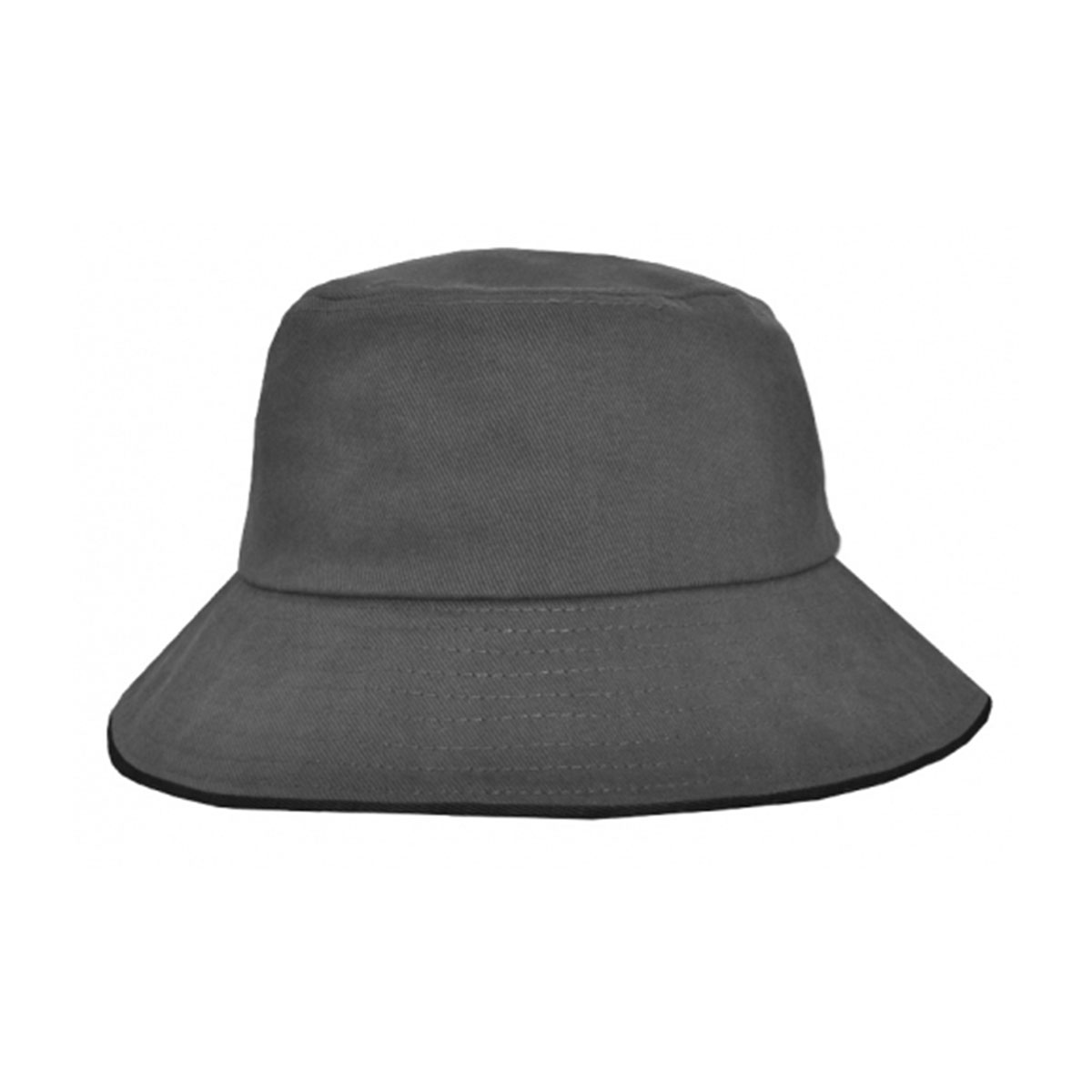 Bucket Hat Sandwich Design-Charcoal / Black
