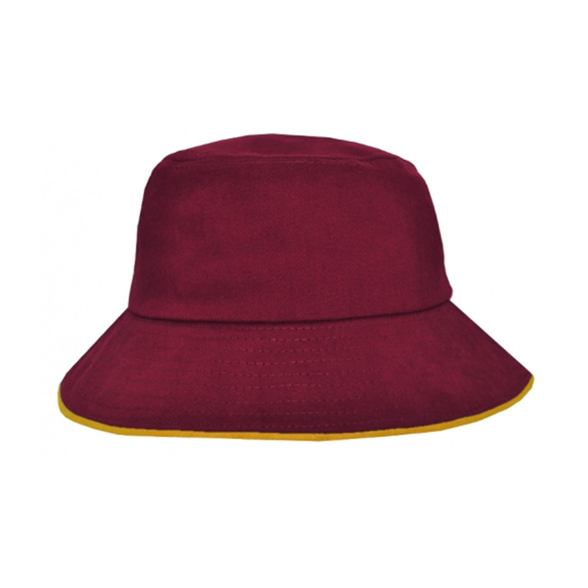Bucket Hat Sandwich Design-Maroon / Gold