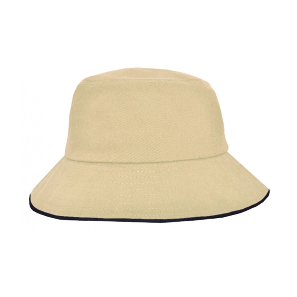 Bucket Hat Sandwich Design-Natural / Navy