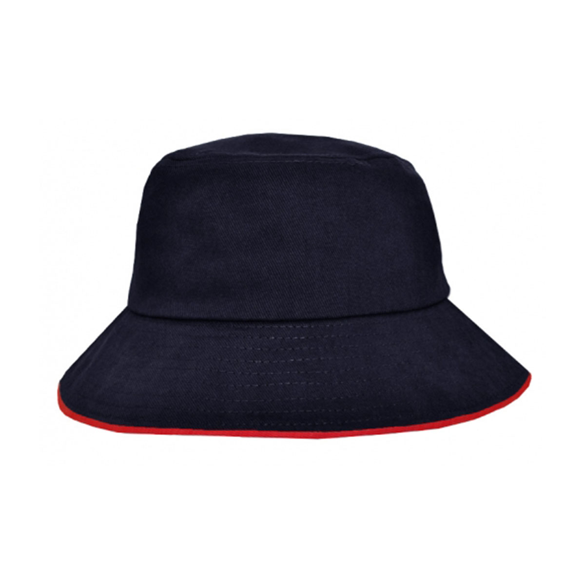 Bucket Hat Sandwich Design-Navy / Red