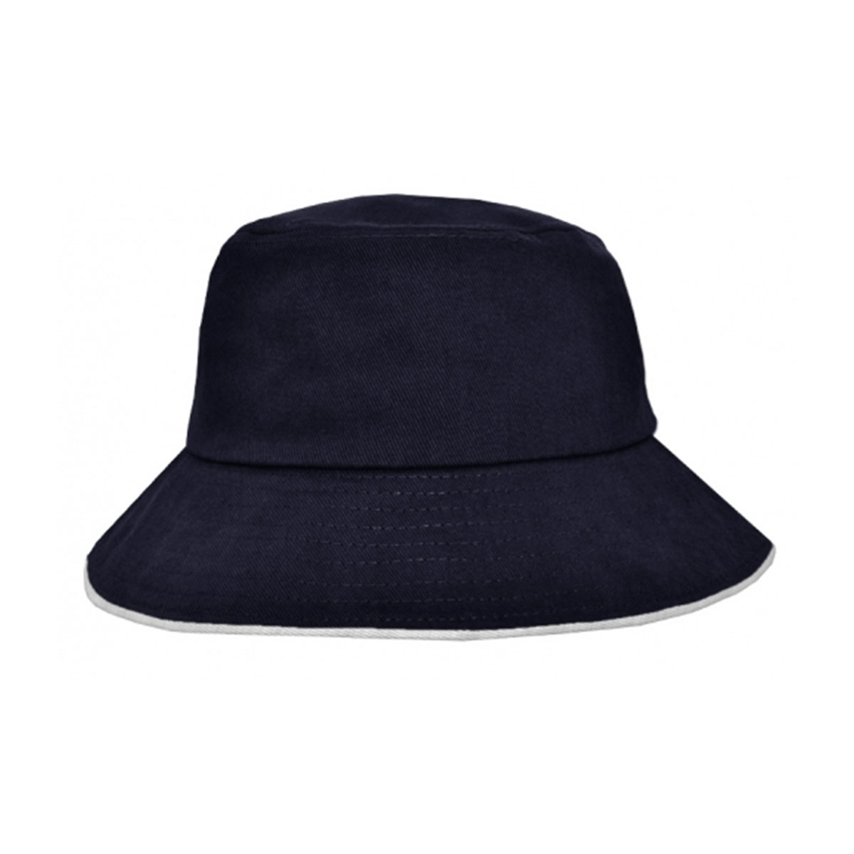 Bucket Hat Sandwich Design-Navy / White