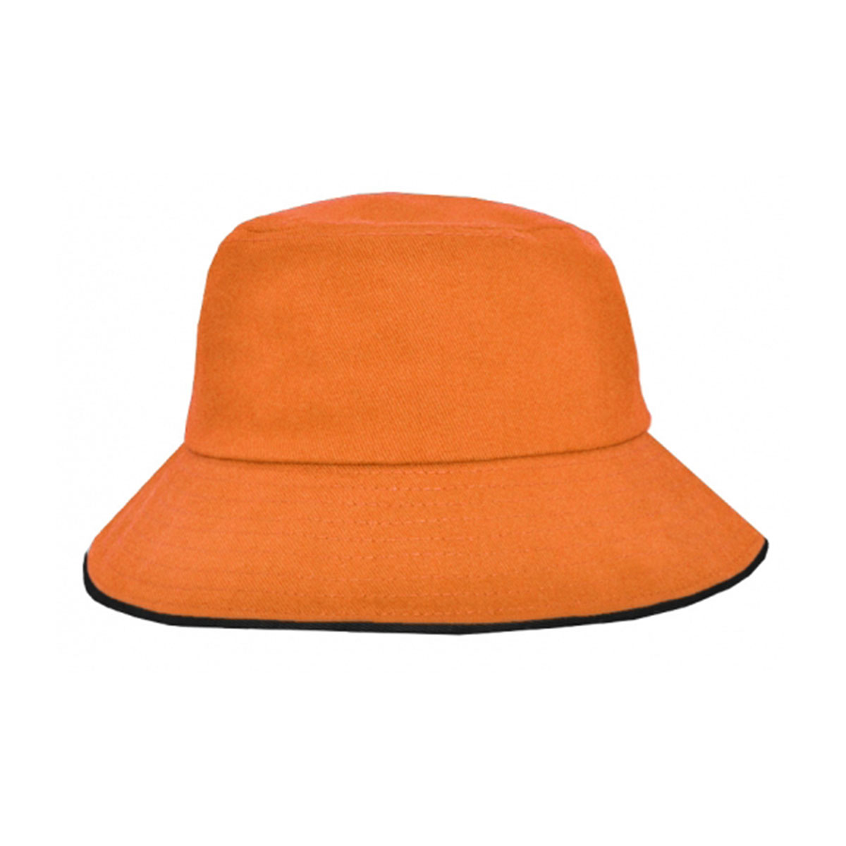 Bucket Hat Sandwich Design-Orange / Black