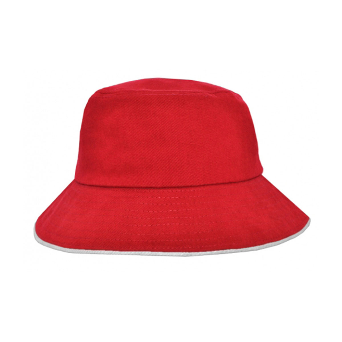 Bucket Hat Sandwich Design-Red / White