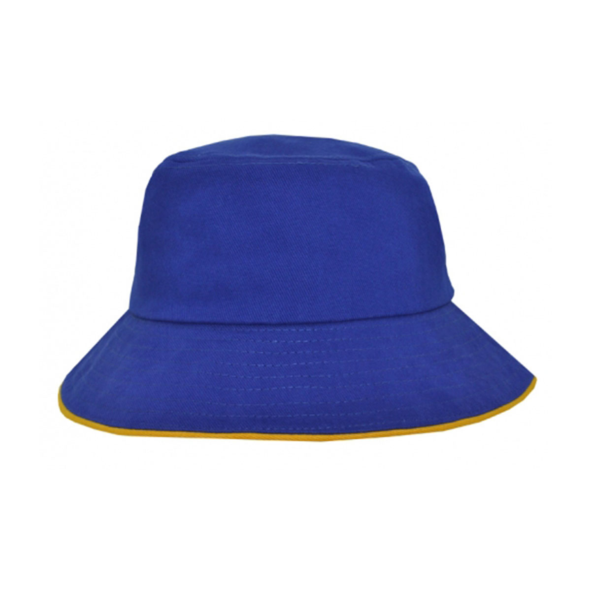 Bucket Hat Sandwich Design-Royal / Gold
