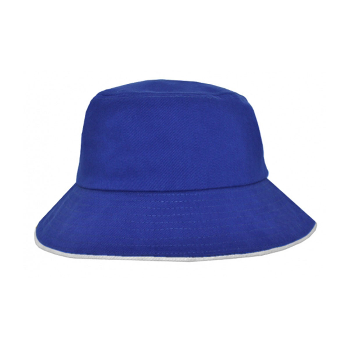 Bucket Hat Sandwich Design-Royal / White