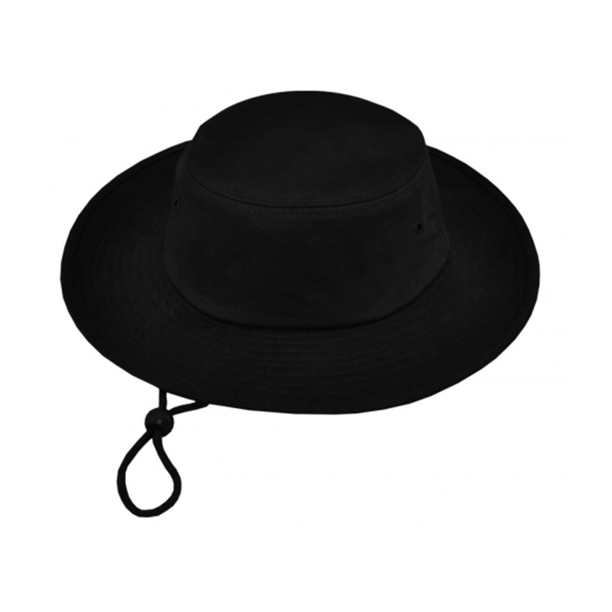 Surf Hat with Rope & Toggle-Black