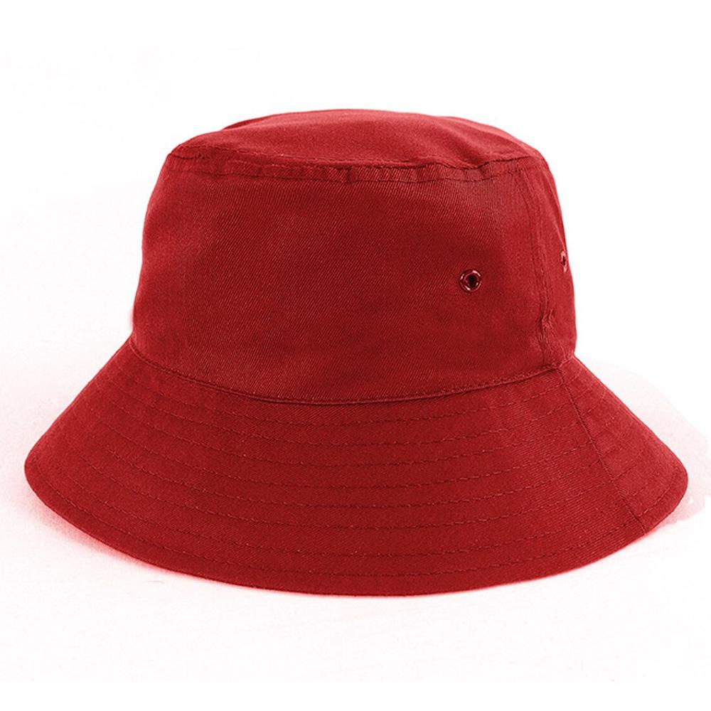 Polycotton School Bucket Hat-Red