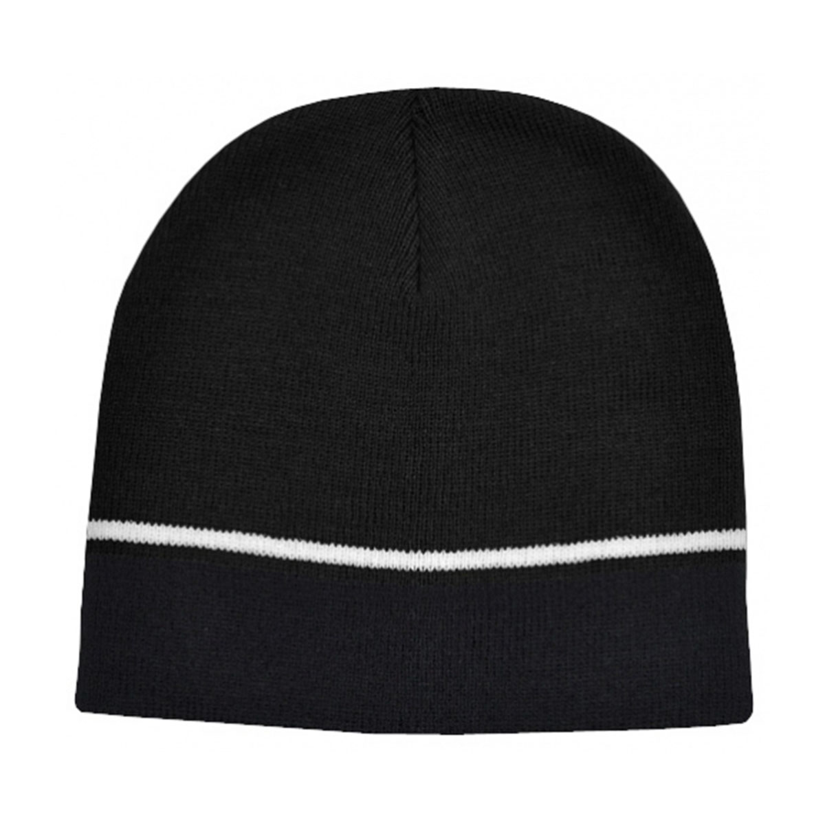 Two-Tone Beanie-Black / White