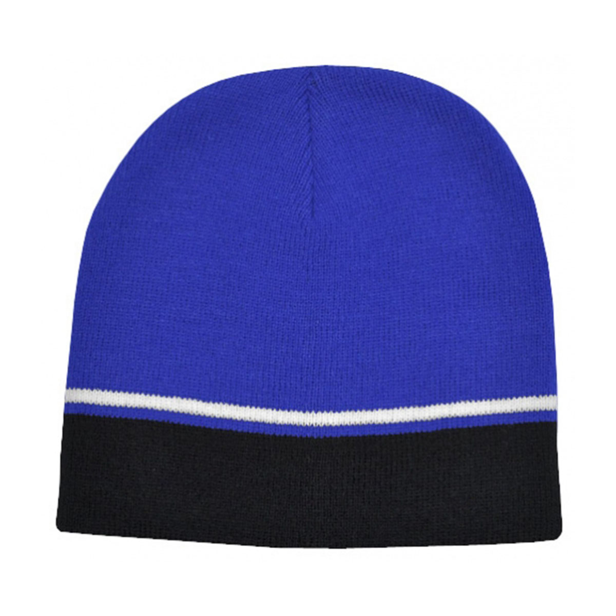 Two-Tone Beanie-Royal / White / Black