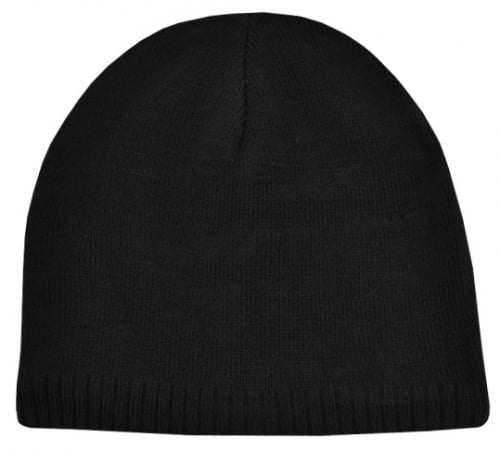 Acrylic/Polar Fleece Beanie-Black