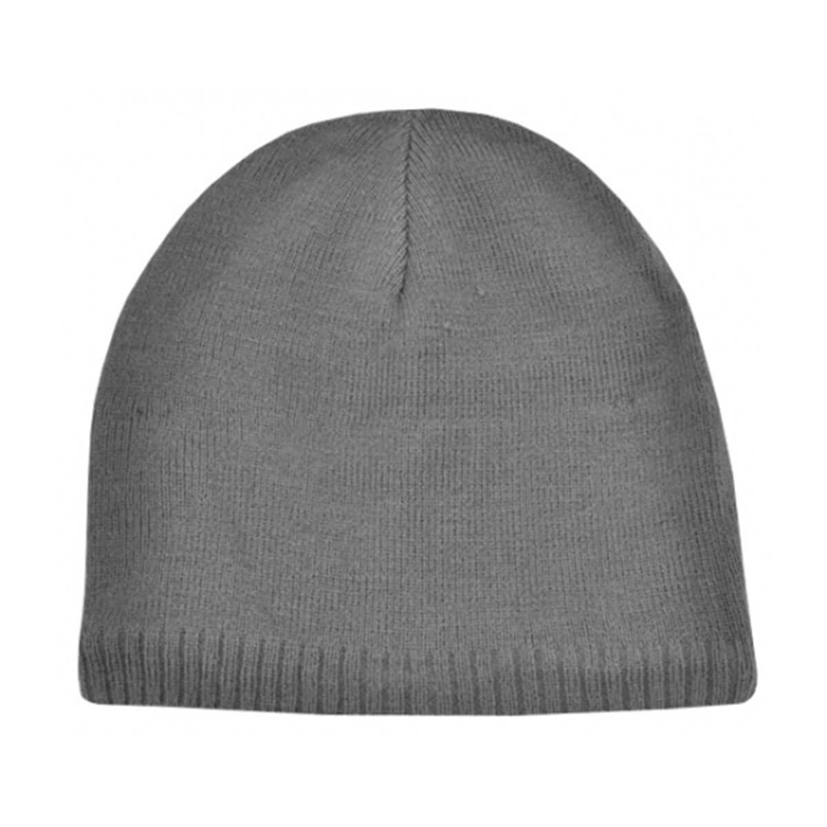 Acrylic/Polar Fleece Beanie-Grey