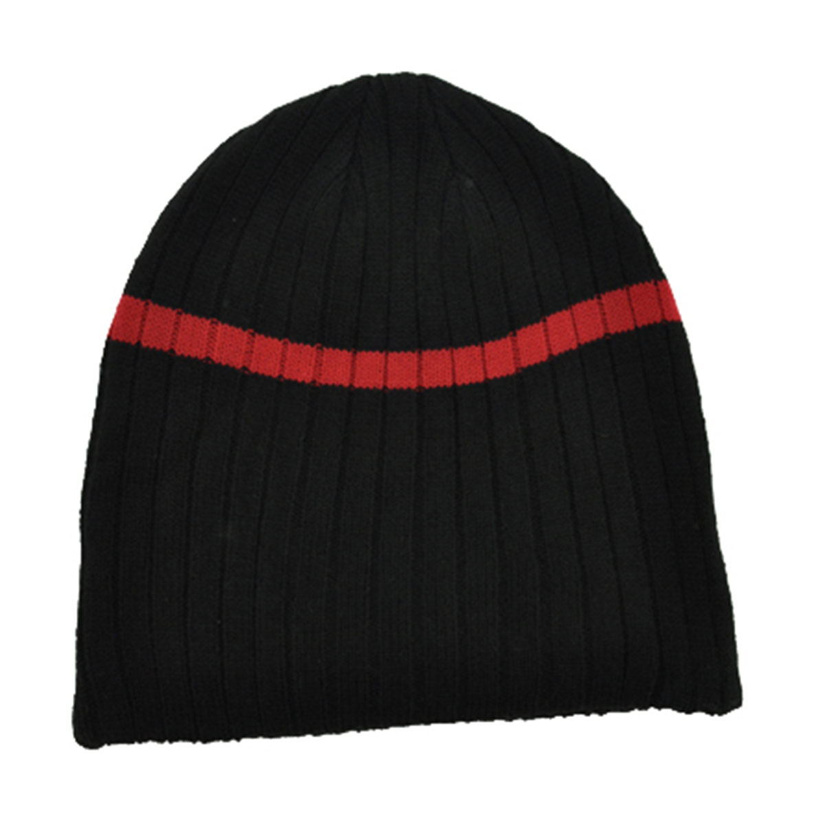 Acrylic Beanie-Black / Red