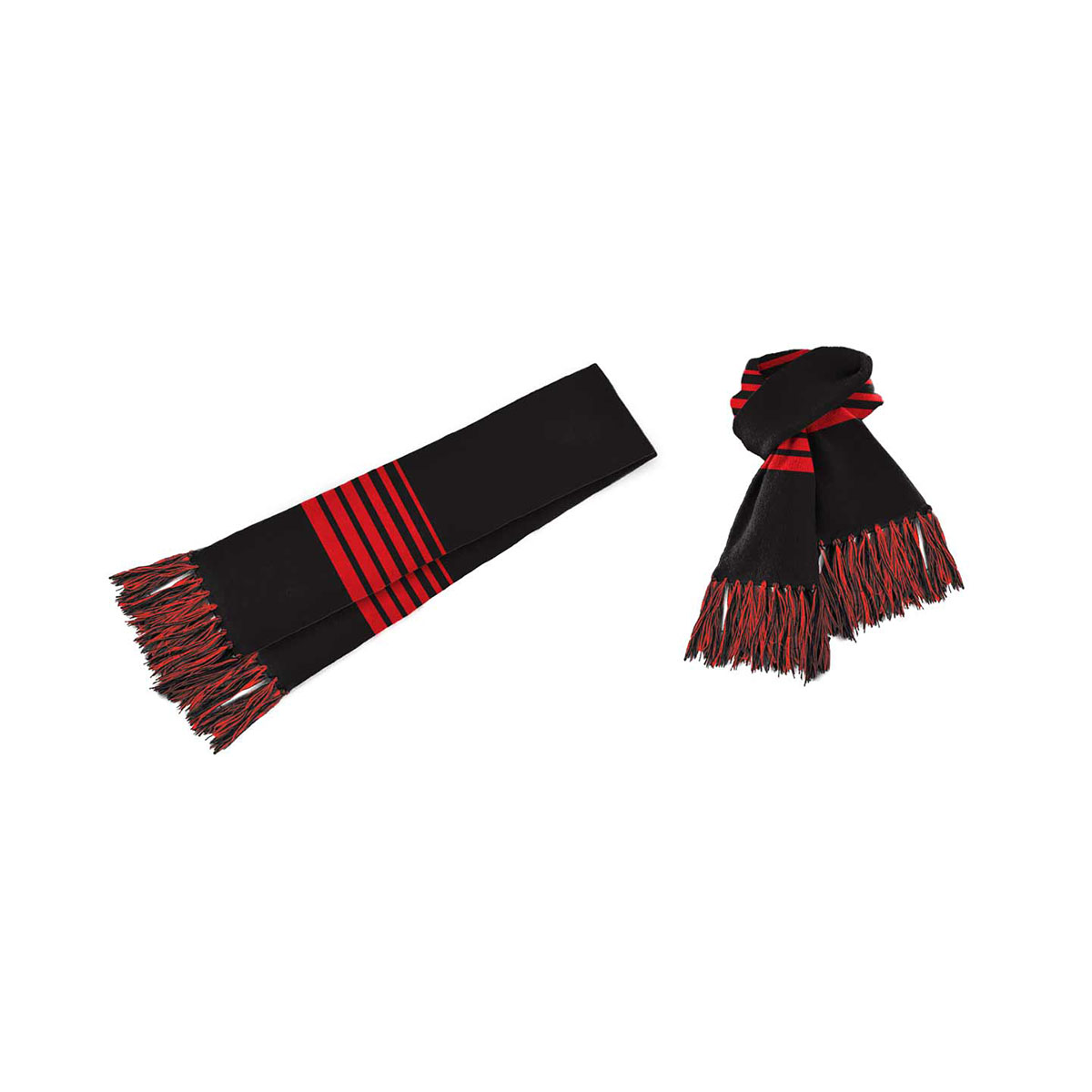 Acrylic Scarf-Black / Red