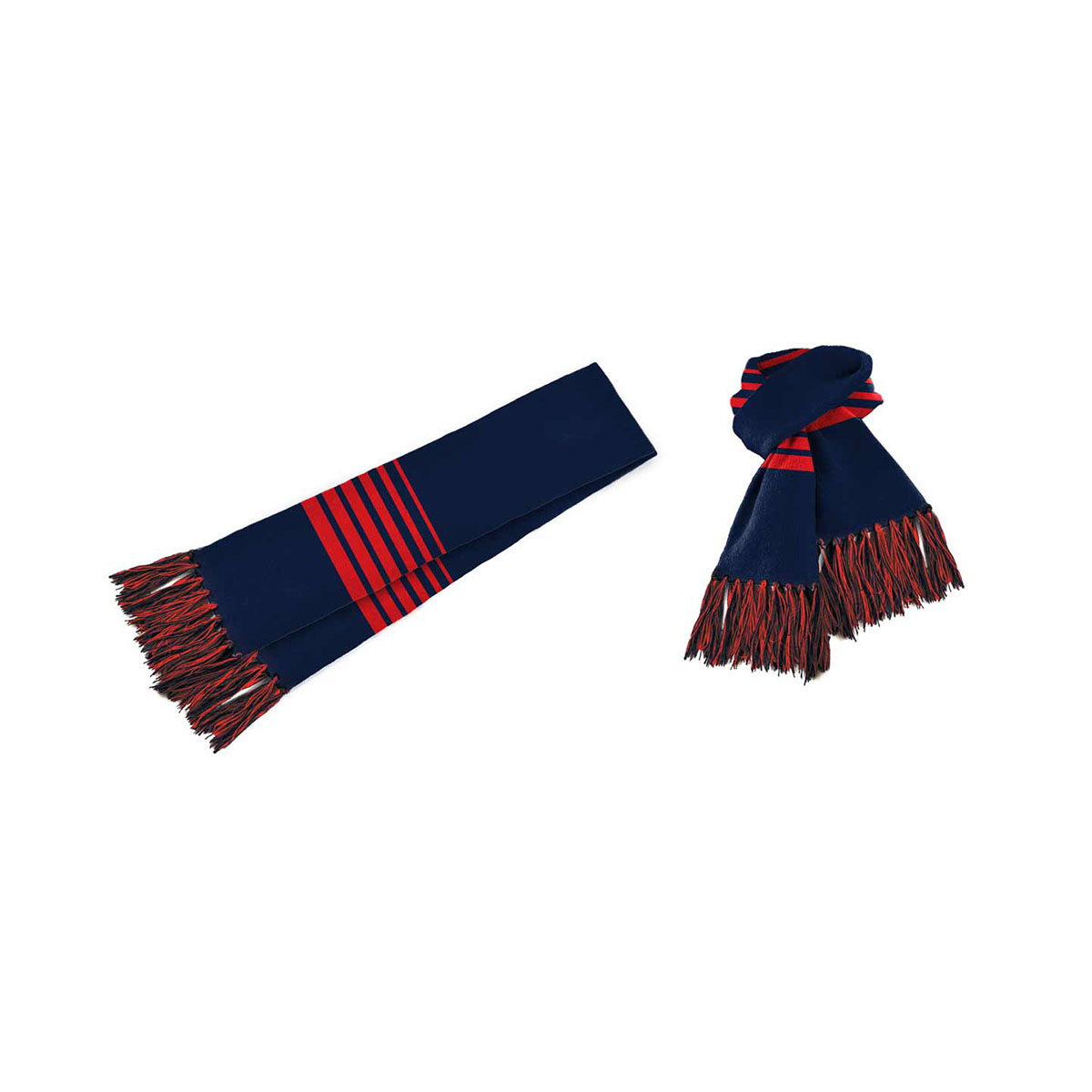 Acrylic Scarf-Navy / Red