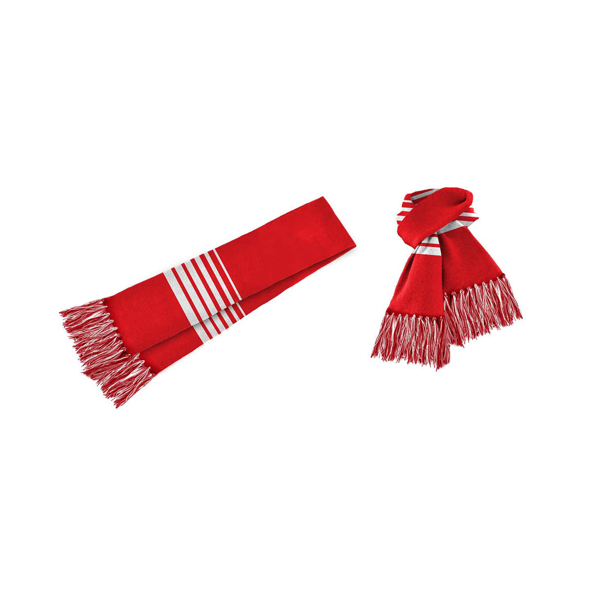 Acrylic Scarf-Red / White