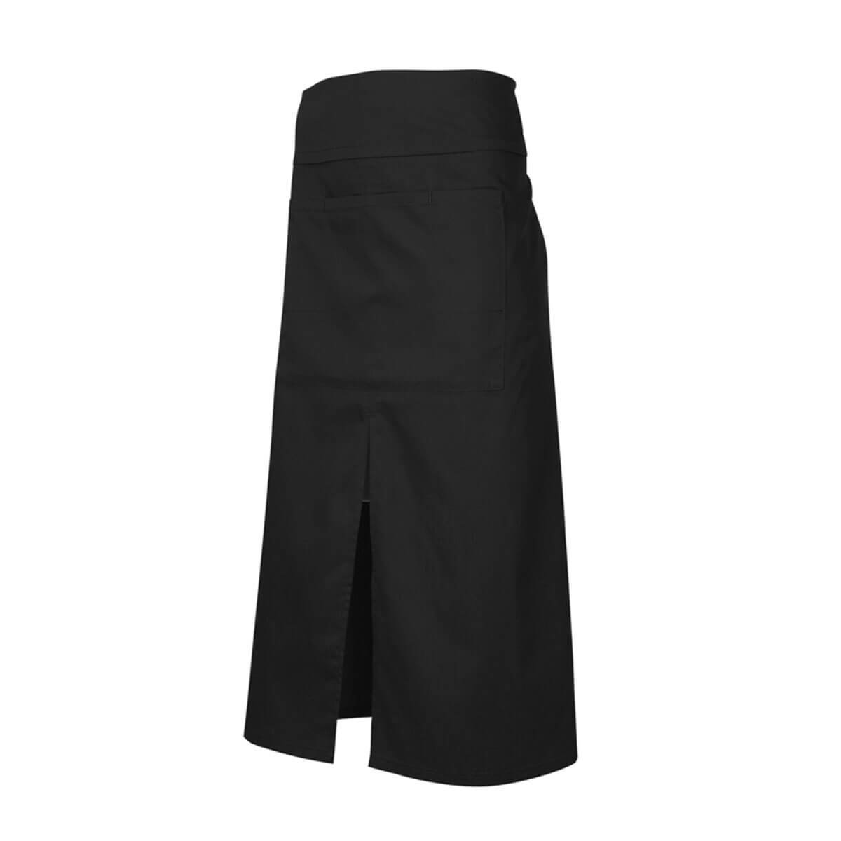 Continental Style Full Length Apron-Black