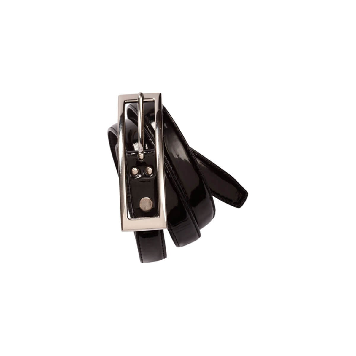 Ladies Semi-Patent Belt-Black
