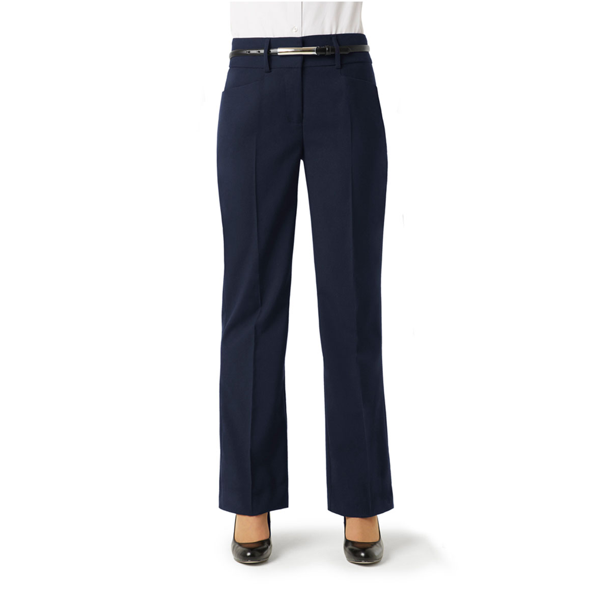Ladies Classic Bootleg Pant-Navy