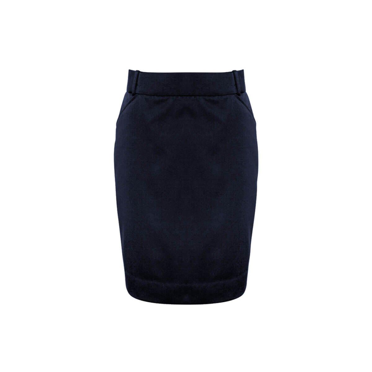 Ladies Detroit Flexi-Band Skirt-Navy
