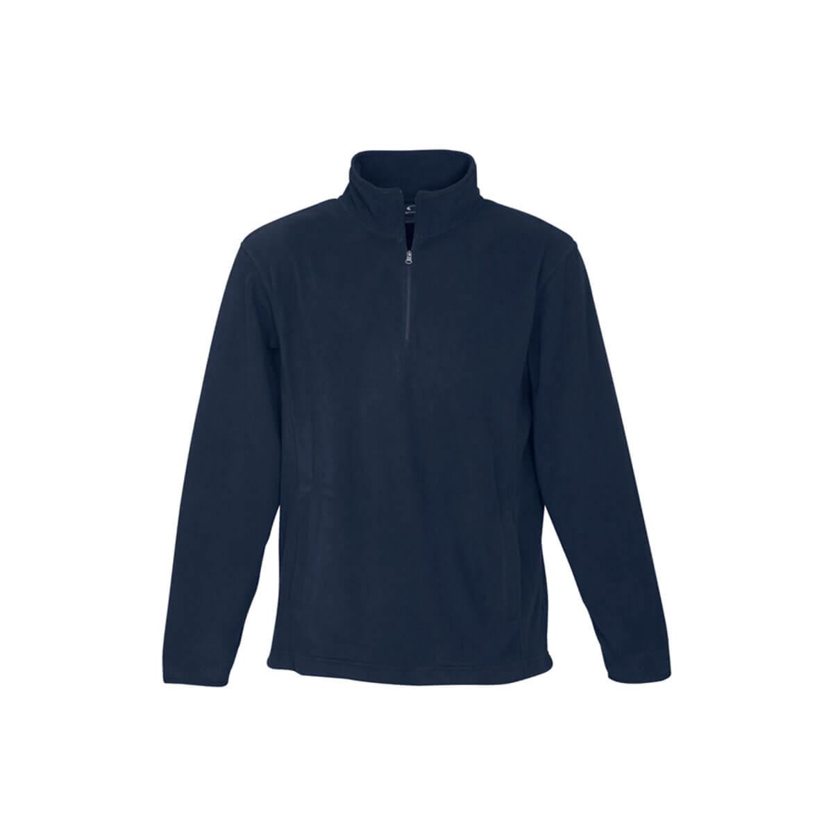 Mens Trinity 1/2 Zip Pullover-Navy