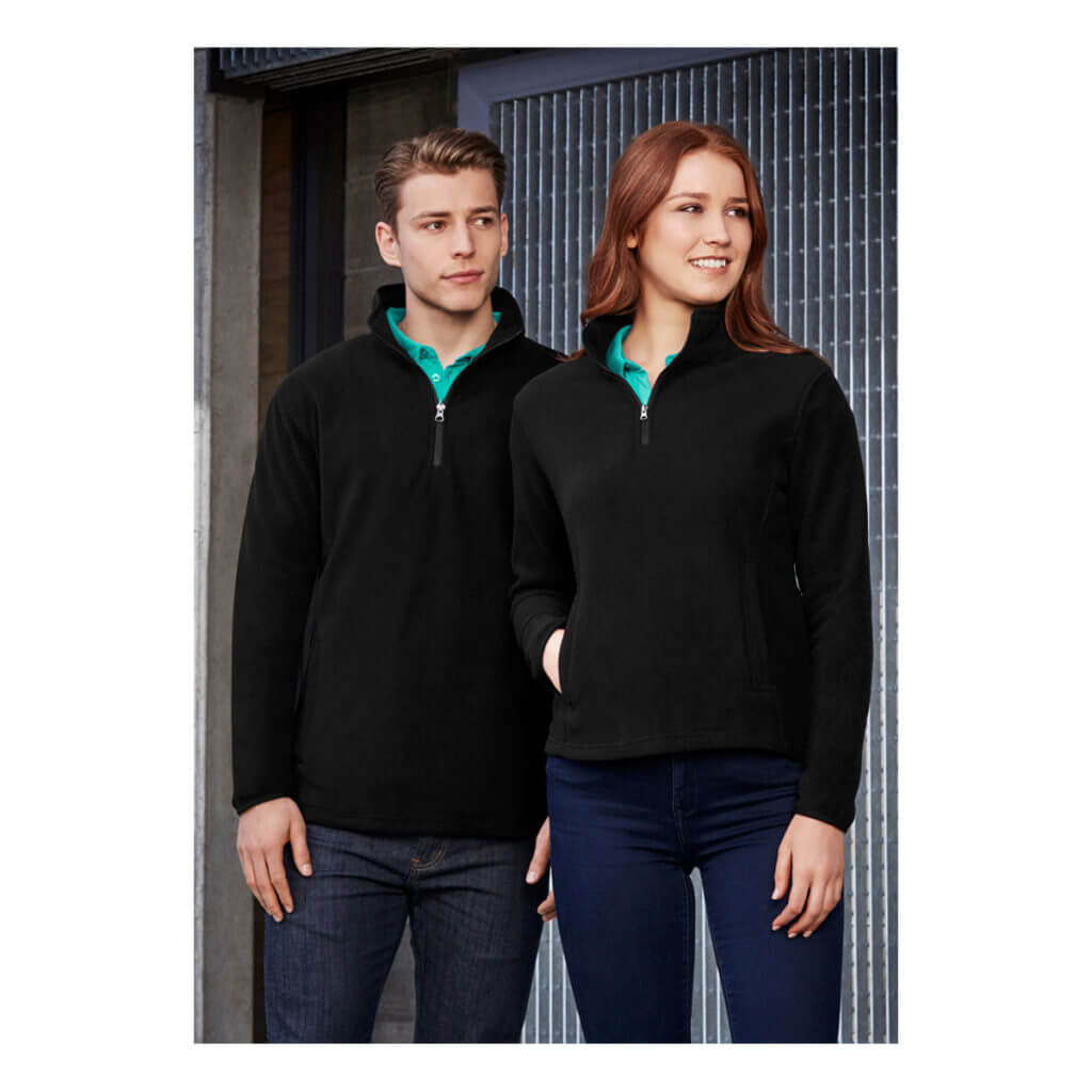 Mens Trinity 1/2 Zip Pullover-Black