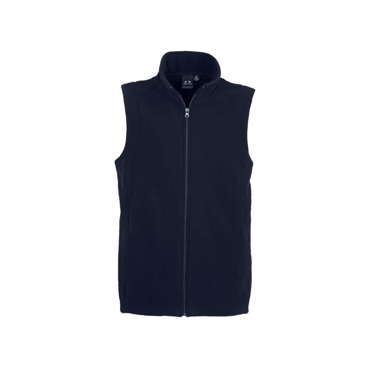 Mens Plain Micro Fleece Vest-Navy