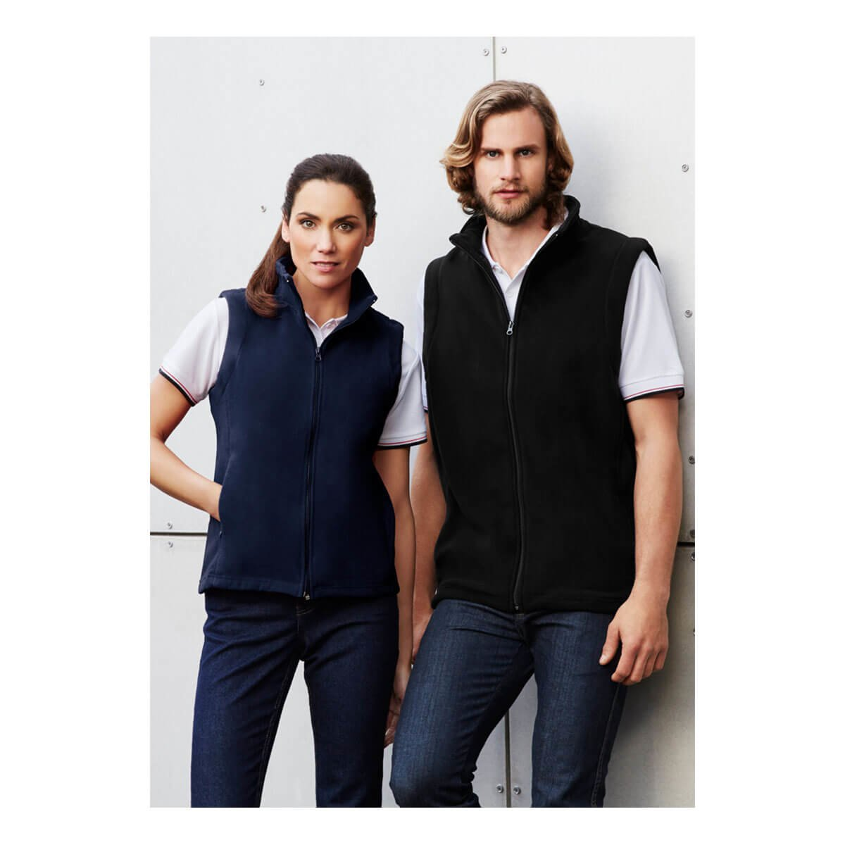 Ladies Plain Micro Fleece Vest
