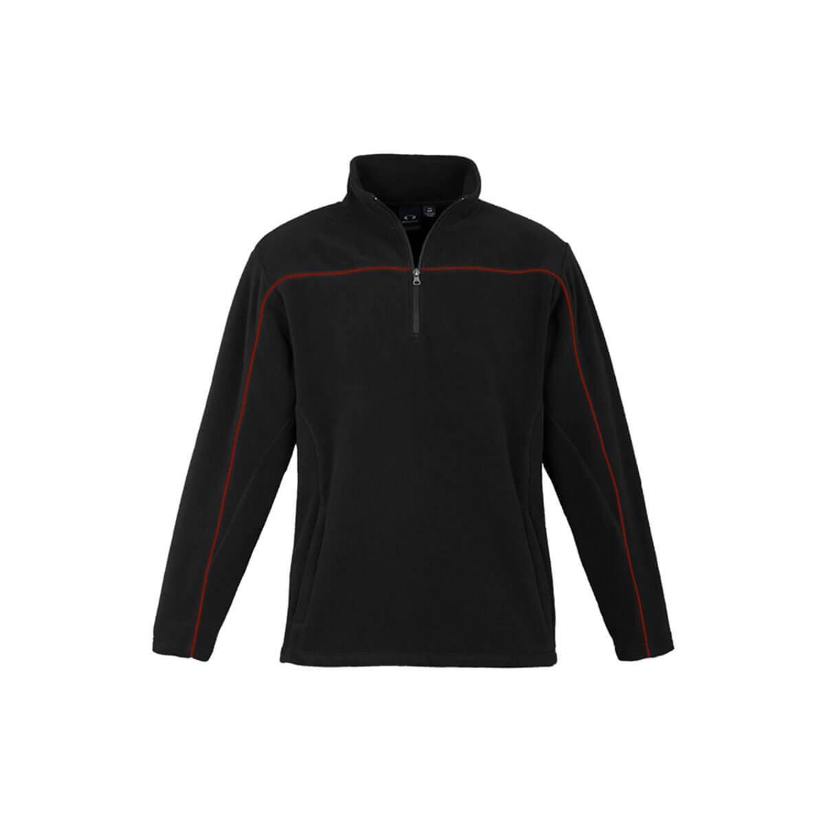 Mens Core Micro Fleece-Black / Red