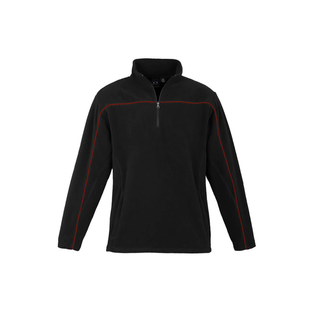 Mens Core Micro Fleece-Black / Red