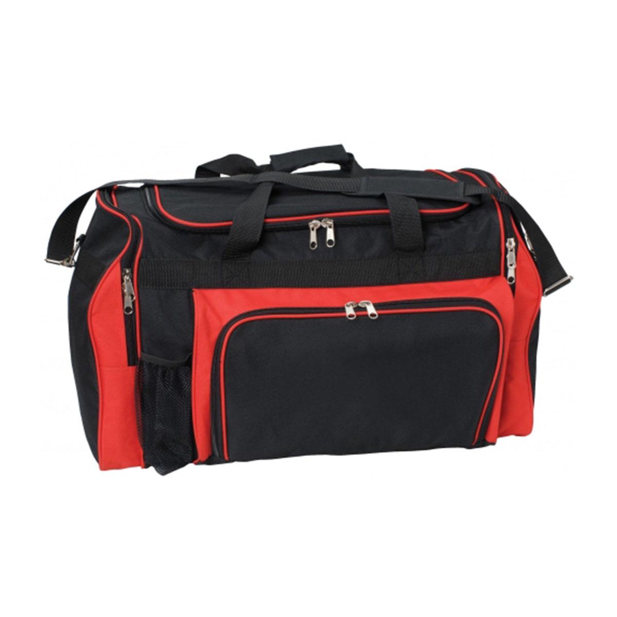 Classic Sports Bag-Black / Red