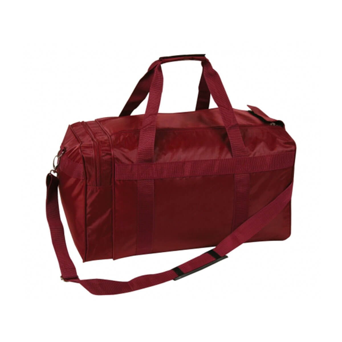 Nylon Sports Bag-Maroon