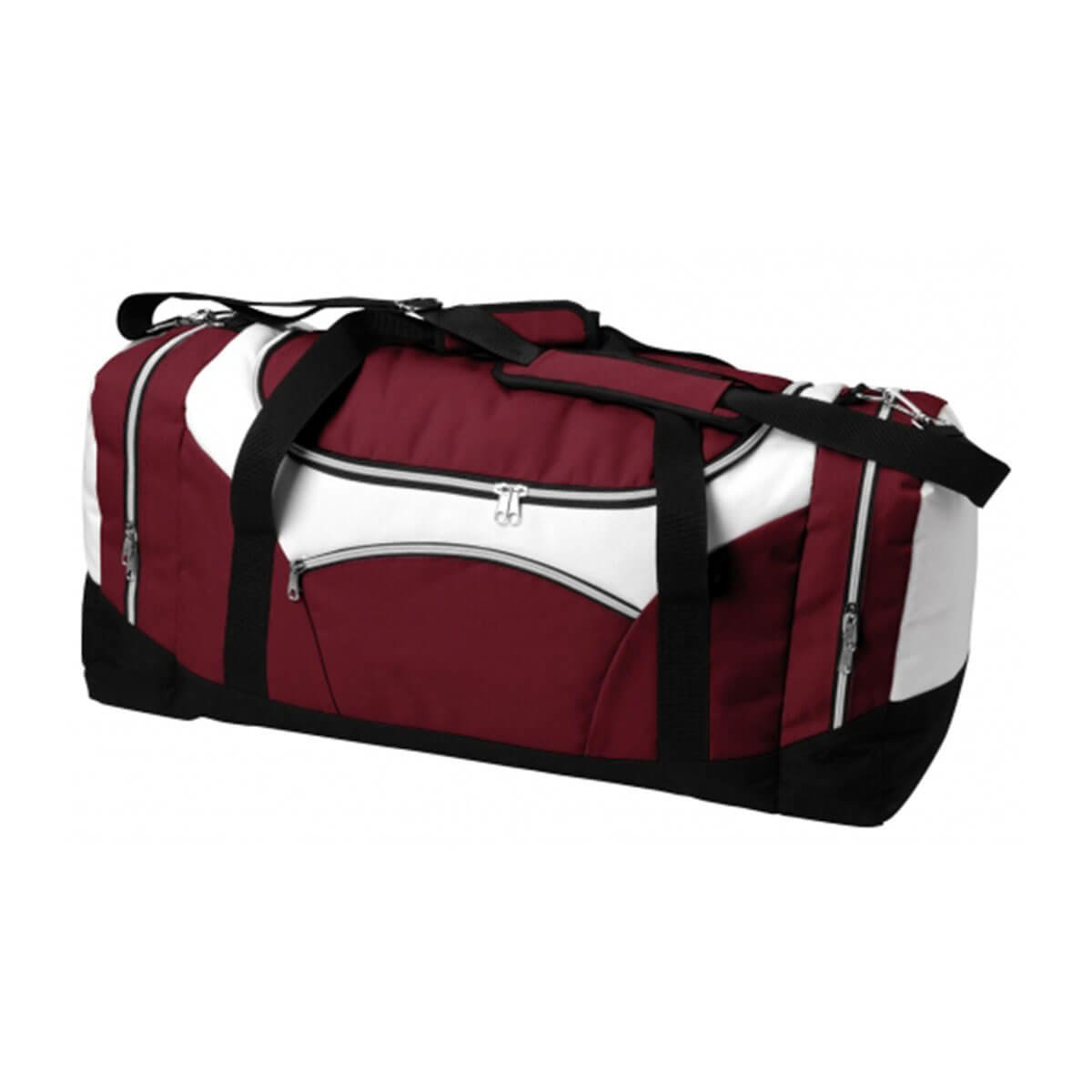 Stellar Sports Bag-Maroon / White