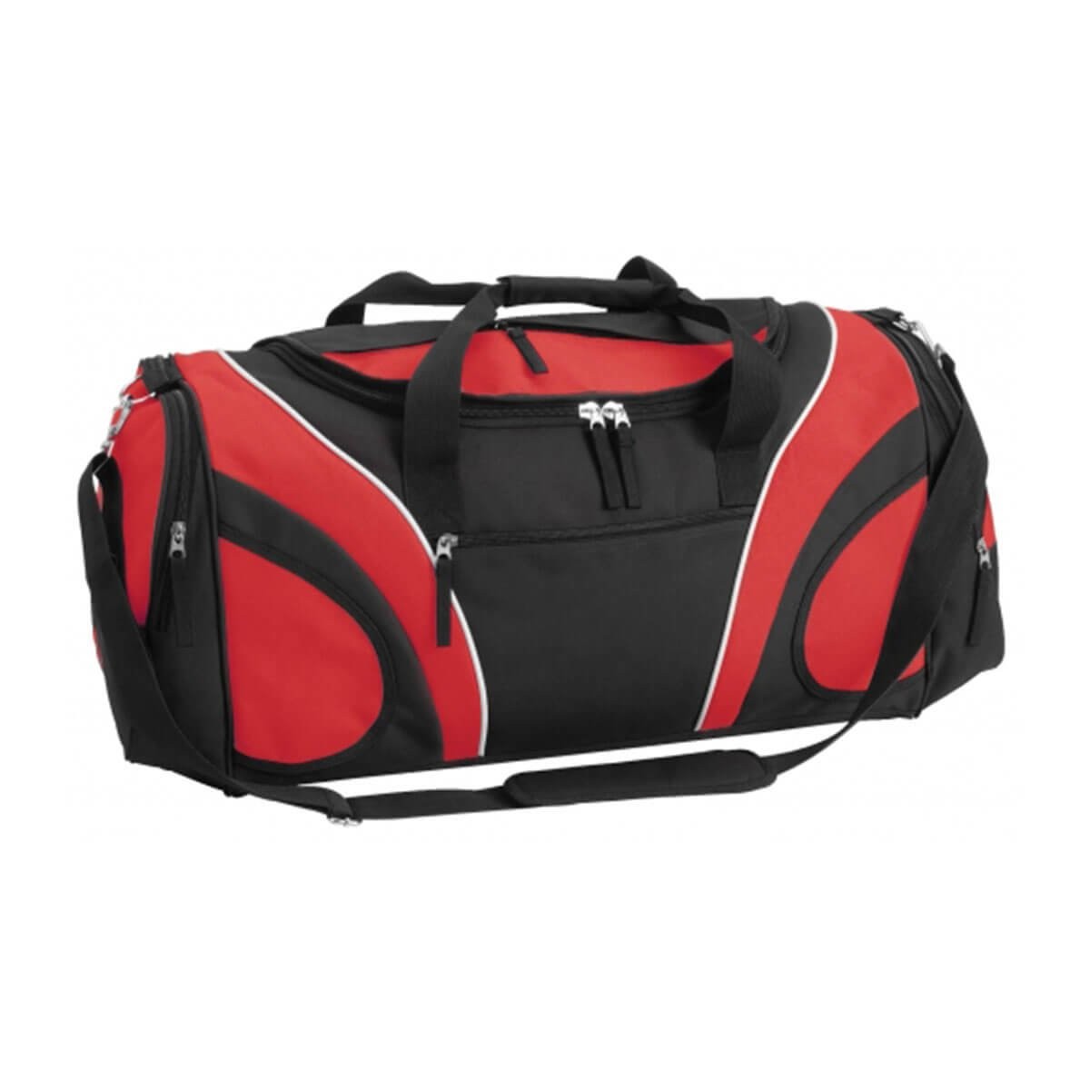 Fortress Sports Bag-Black / Red