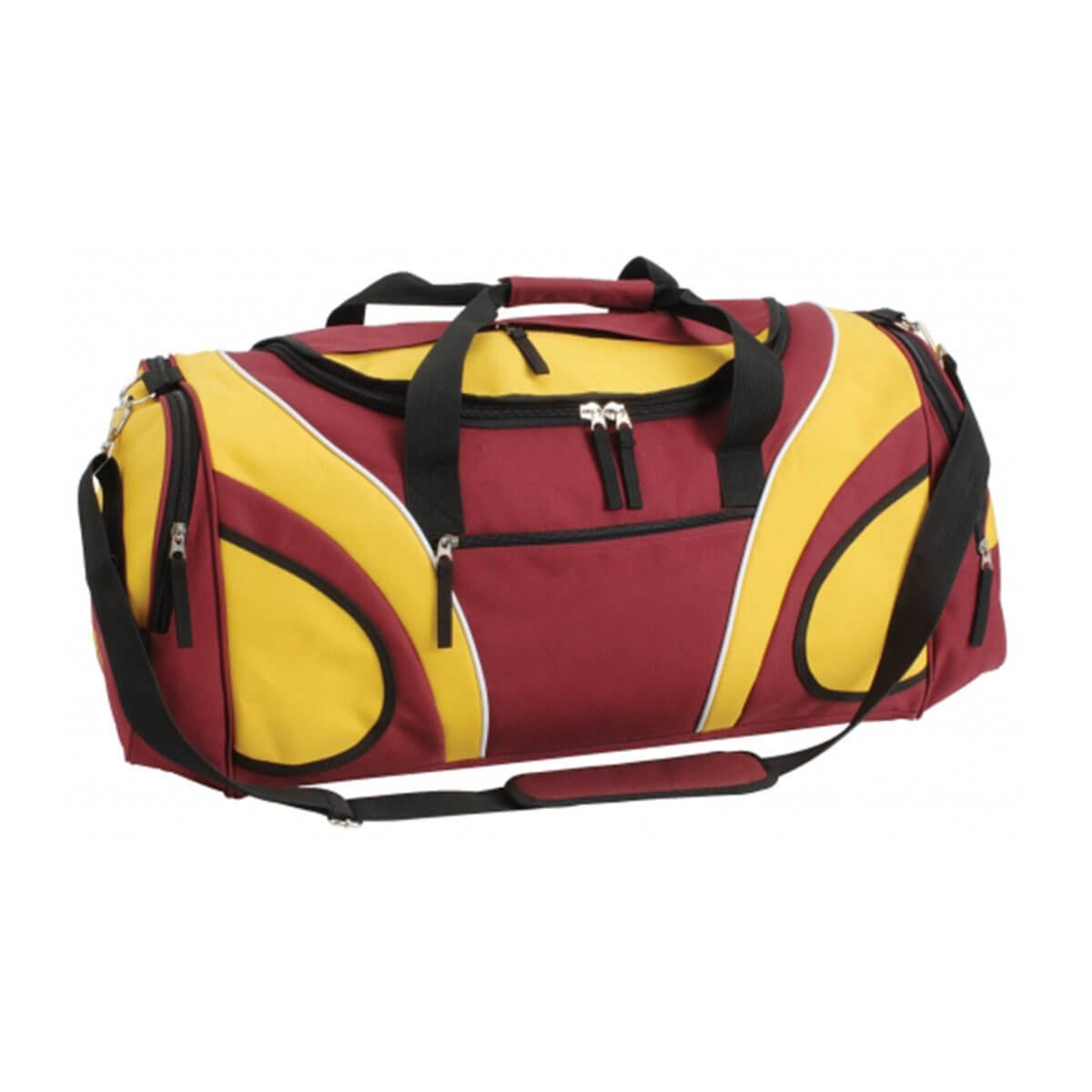 Fortress Sports Bag-Maroon / Gold