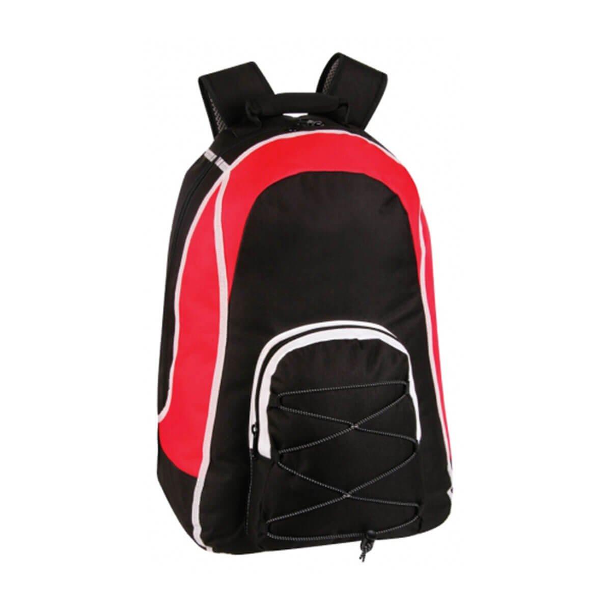 Virage Backpack-Black / White / Red