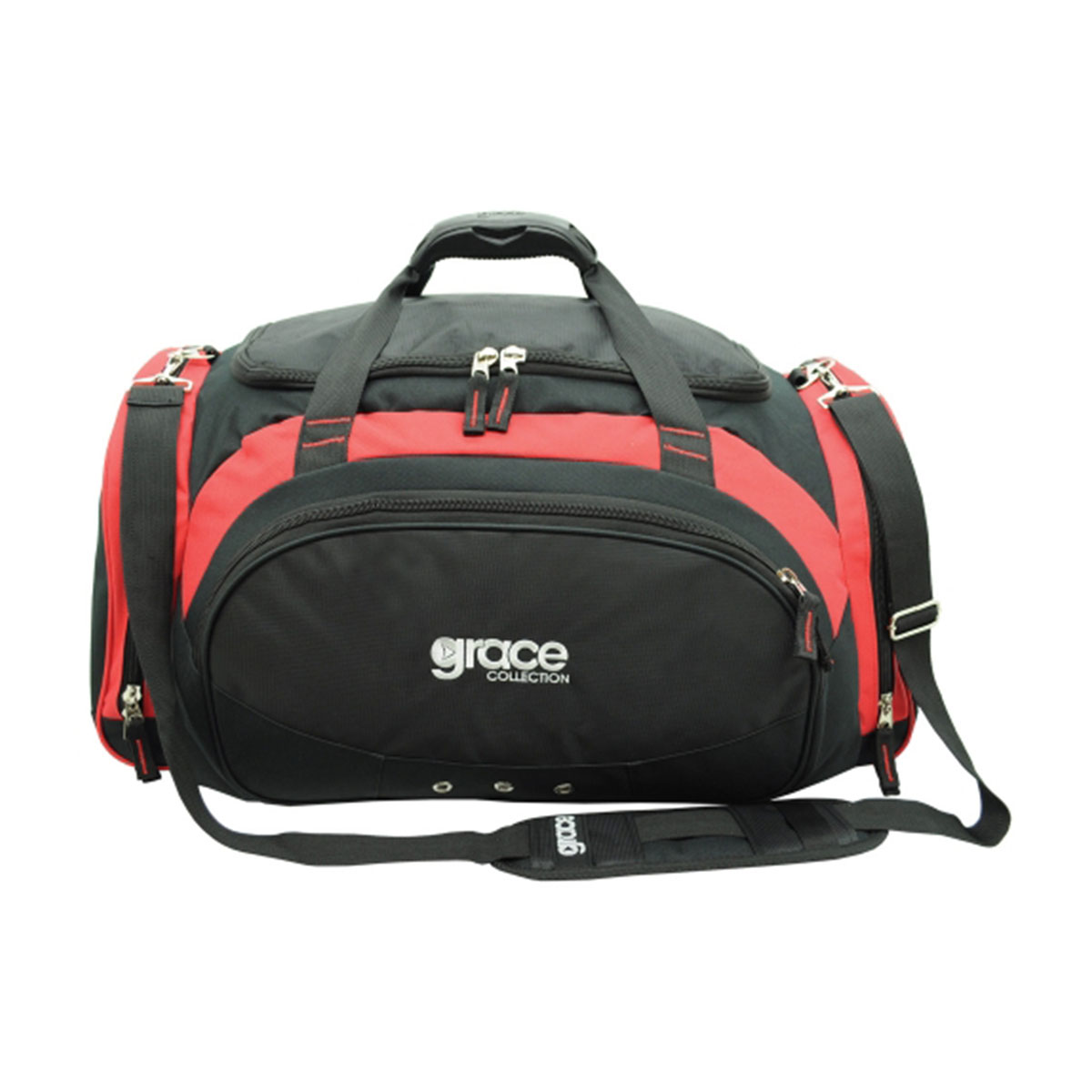 Orion Sports Bag-Black / Red