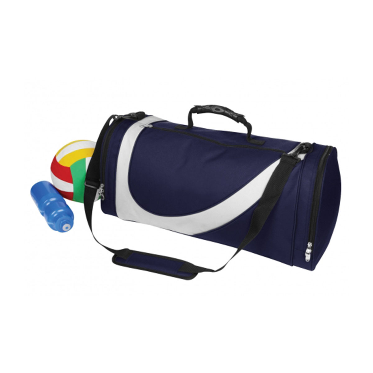 Sports Bag-Navy / White